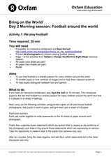 Bring on the World: Football Around the World Lesson Plan
