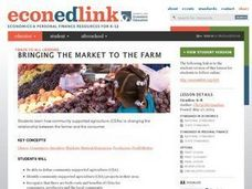 Bringing the Market to the Farm Lesson Plan
