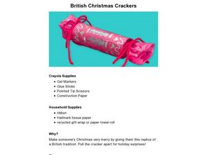 British Christmas Crackers Lesson Plan