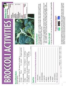 Broccoli Activities Worksheet