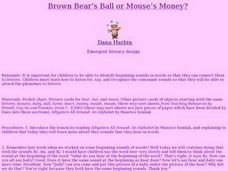Brown Bear's Ball or Mouse's Money? Lesson Plan