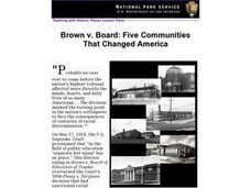 Brown v. Board: Five Communities That Changed America Lesson Plan