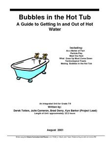 Bubble in the Hot Tub Lesson Plan