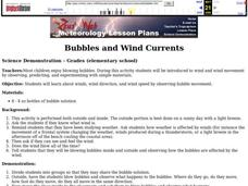 Bubbles and Wind Currents Lesson Plan