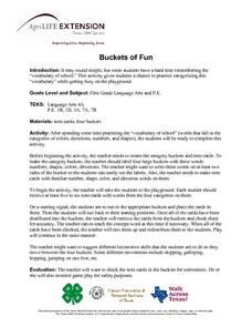 Buckets of Fun Lesson Plan