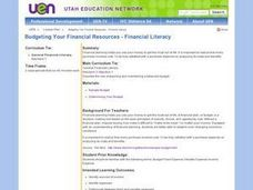 Budgeting Your Financial Resources (The Mint) Lesson Plan