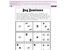 Bug Dominoes Worksheet