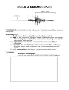 Build a Seismograph Worksheet