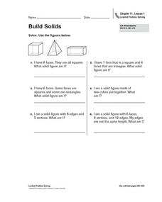 Build Solids Worksheet