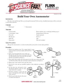 Build Your Own Anemomter Lesson Plan
