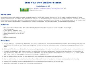 Build Your Own Weather Station Lesson Plan