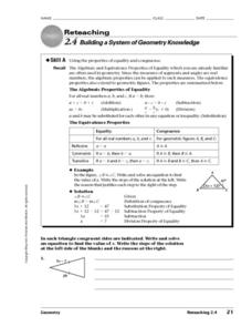 Building a System of Geometry Knowledge Worksheet
