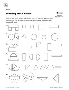 Building Block Puzzle Worksheet