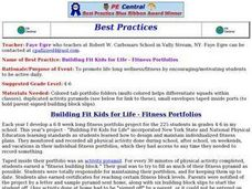 Building Fit Kids for Life - Fitness Portfolios Lesson Plan