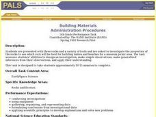 Building Materials Lesson Plan