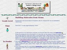 Building Molecules From Atoms Lesson Plan