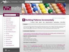 Building Patterns Incrementally Lesson Plan