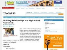 Building Relationships in a High School Classroom Lesson Plan
