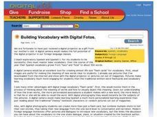 Building Vocabulary With Digital Photos Lesson Plan