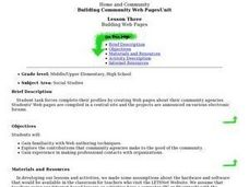 Building Web Pages Lesson Plan