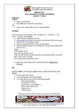 Bullying Essay Lesson Plan