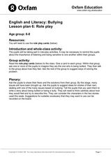 Bullying: Role Play Lesson Plan