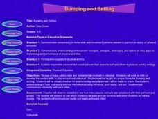 Bumping and Setting Lesson Plan