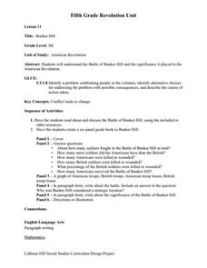 Bunker Hill Worksheet