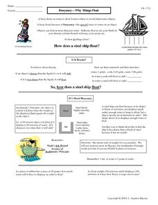 Buoyancy-Why Things Float Worksheet