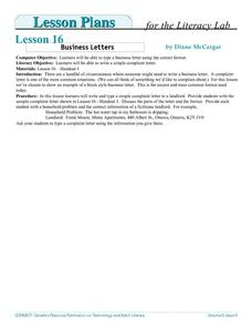 Business Letters- Adult Literacy Lesson Plan
