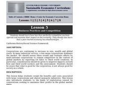Business Practices and Competition Lesson Plan
