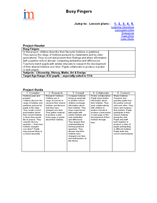 Busy Fingers Lesson Plan