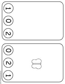 Butterfly Counting Cards Worksheet