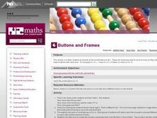 Buttons and Frames Lesson Plan