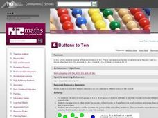 Buttons to Ten Lesson Plan