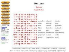 Buttons Worksheet
