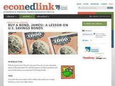 Buy A Bond, James! A Lesson on US Savings Bonds Lesson Plan