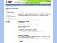 Buying a Used Vehicle Lesson Plan