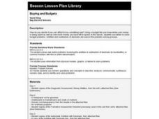 Buying and Budgets Lesson Plan