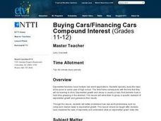Buying Cars/Financing Cars Compound Interest Lesson Plan