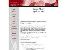 Buying Money Lesson Plan