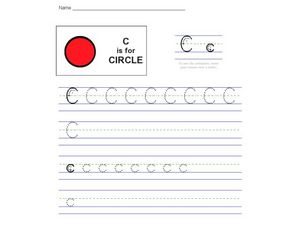C Is For Circle Worksheet