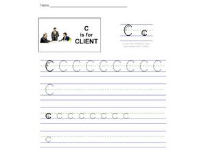 C Is For Client Worksheet