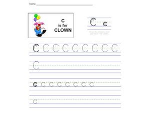 C Is For Clown Worksheet