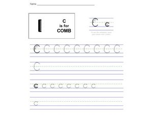 C is for Comb: The Letter C Worksheet