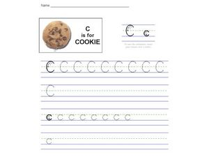 C is for Cookie: The Letter C Worksheet