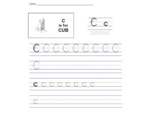 C Is For Cub Worksheet
