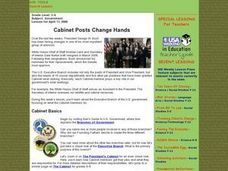 Cabinet Posts Change Hands Lesson Plan