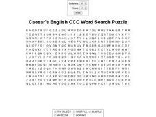 Caesar's English CCC Word Search Worksheet
