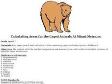 Calculating Areas for the Caged Animals At Miami Metrozoo Lesson Plan